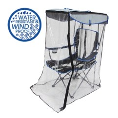 Folding Chair Enclosure Dining Room Side Chairs Original Canopy With Weather Shield Kelsyus