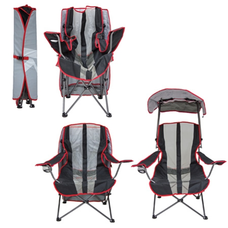 camping chairs with canopy round rocking chair original red and gray camp