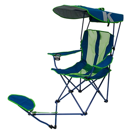 camping chairs with canopy hammock chair canada original ottoman navy lime kelsyus