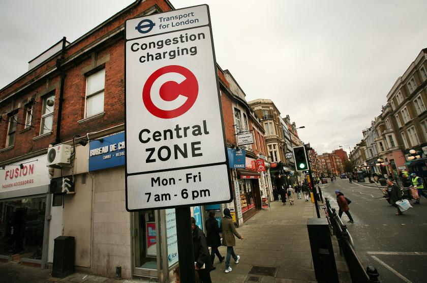 Central London congestion zone charging