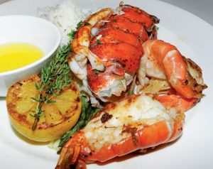 Lobster seafood dish