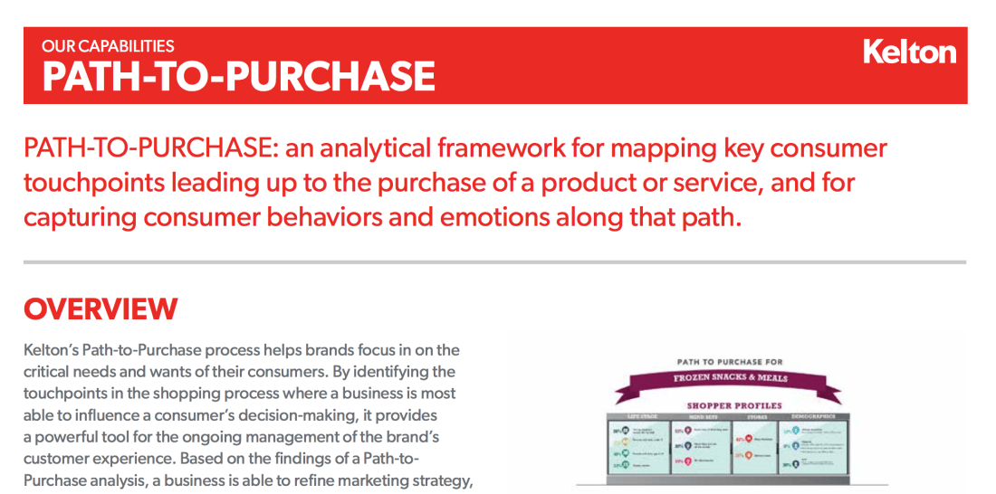 Consumer Journey: Path-to-Purchase Research