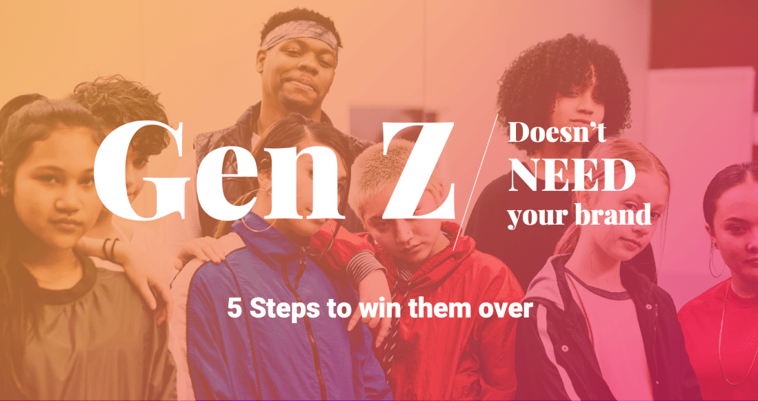Gen Z ebook featuring research and brand strategy for marketers using a brand consulting firm