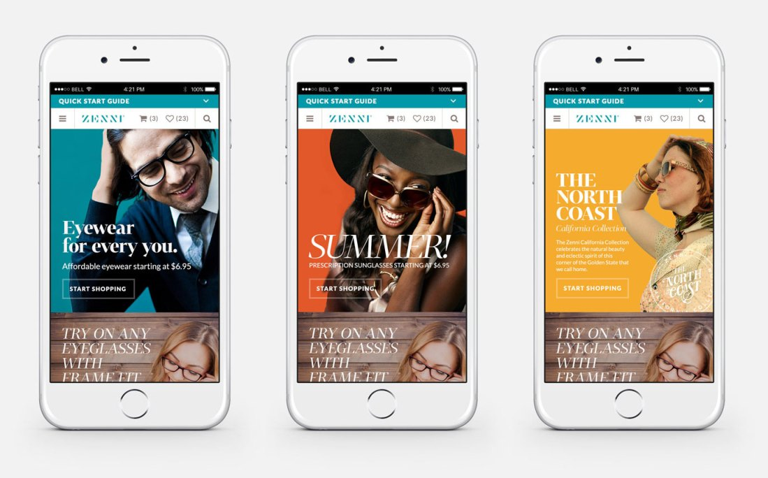 Zenni mobile campaign design
