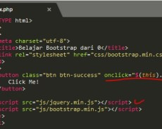 Latihan Bootstrap Pada Button Dengan JQuery