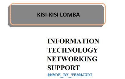 Kisi Kisi LKS Tingkat DKI 2018 Bidang Lomba Information Technology Networking Support