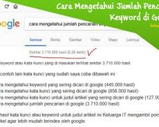 Cara Mengetahui Jumlah Pencarian di Google