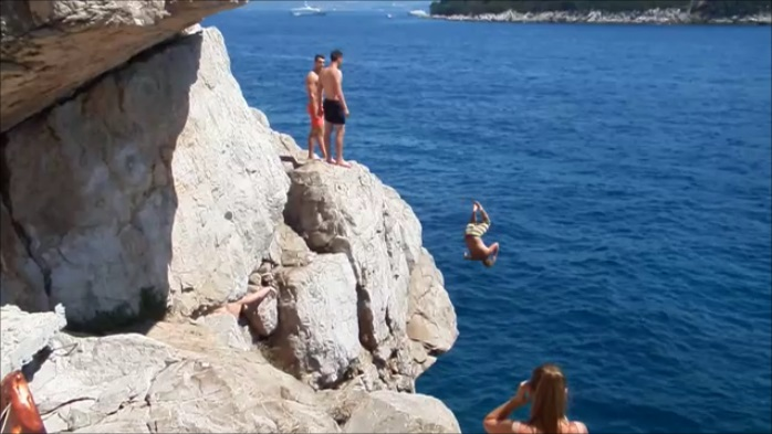 Cliff jumping croatia