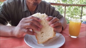 Njegusi cheese sandwich