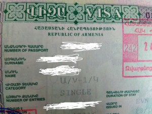 Armenian visa on arrival