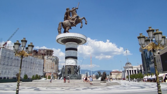 Alexander the great statue Skopje