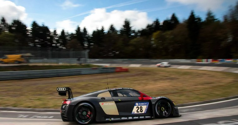 Audi Sport Team Land secure 24HR Nurburgring Blue Light