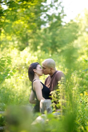Evergreen Brickworks Engagement Photo Session