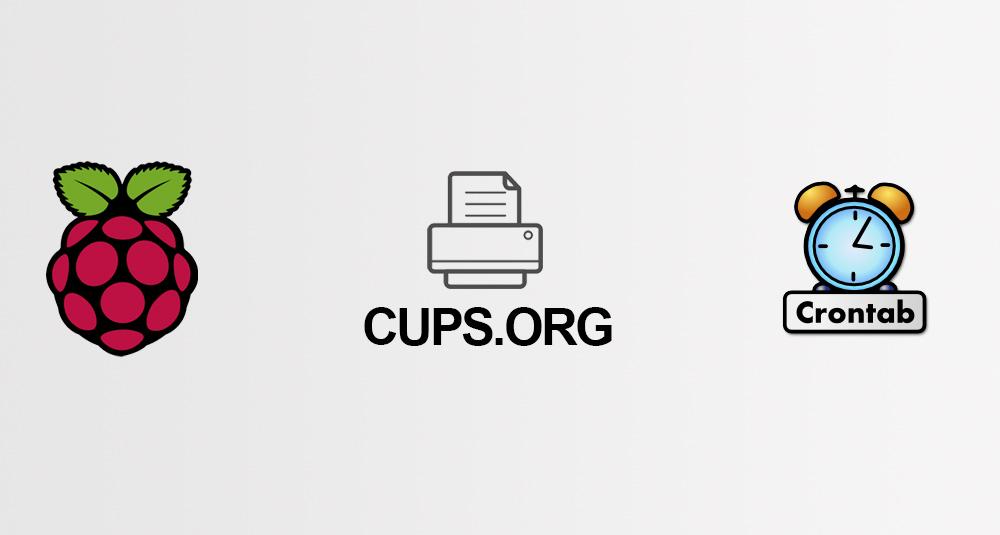 CUPS kurulumu Rpi Crontab