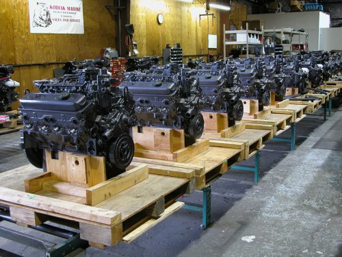 small resolution of kodiak marine engine production line