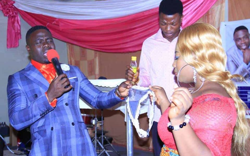 See what this pastor did to a lady..