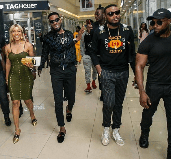 Tonto Dikeh and D'banj step out together for a friend's birthday party
