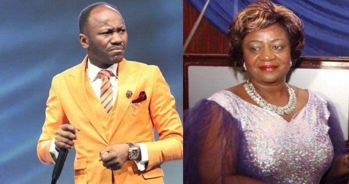 Apostle Johnson Suleiman replies Lauretta Onochie, says she's burden by challenges of life