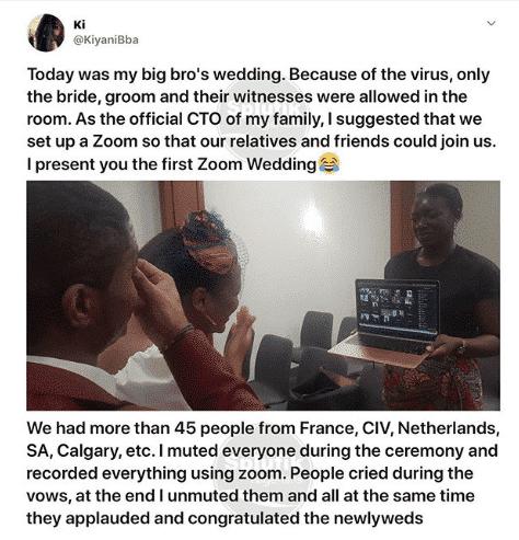 Lockdown: Couple holds wedding online
