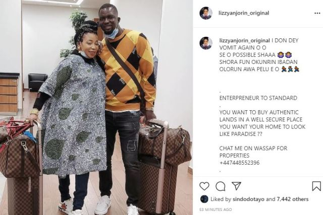 Lizzy Anjorin as she hints at being pregnant again