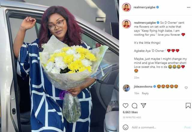 Mercy Aigbe considers giving marriage another shot