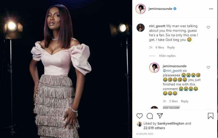 Nigerian lady begs Actress Jemima Osunde not to snatch her lover - 247 News Around The World