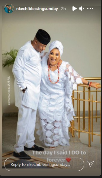 Nkechi Blessing finally shares wedding photos with her politician boyfriend - 247 News Around The World