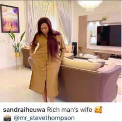 Sandra Iheuwa brags about being the wife of a wealthy guy, only days after Ubi Franklin rejected her at a baby mothers' celebration.