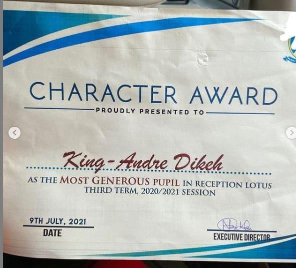Tonto Son's award