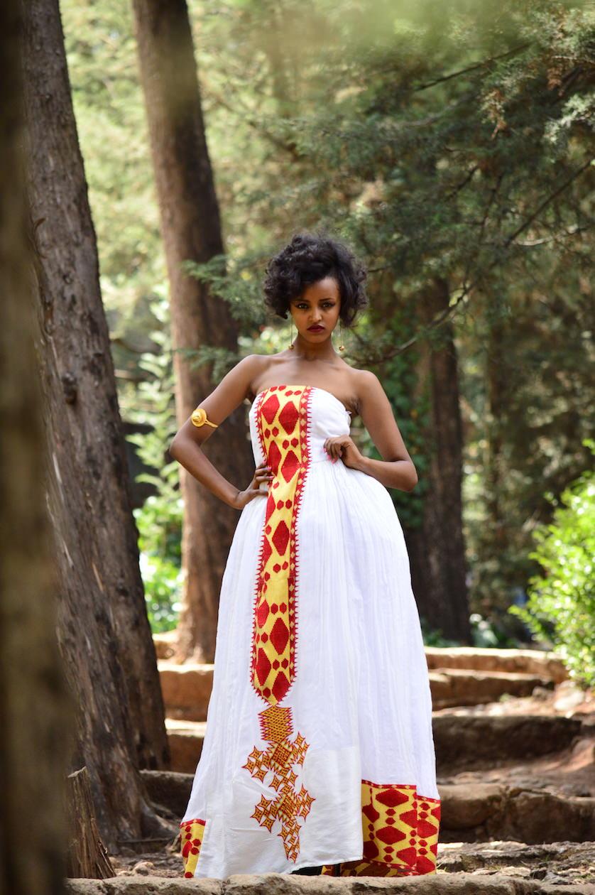 Louisa May Traditional Ethiopian wedding dress  Kemis Designs