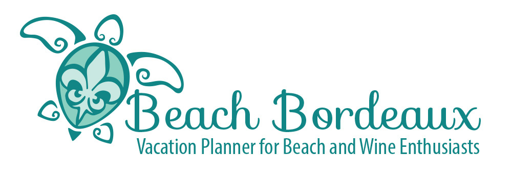 custom logo developed for travel agent utilizing turtle shape, line art, and fleur de lis,