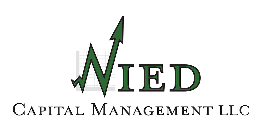 Nied Capital Management LLC logo developeded by Kemp Design Services features bar graph for financial industry