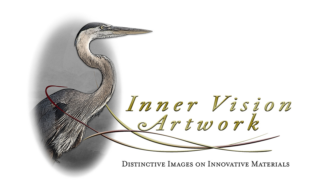 Innervision Artwork Logo developed by Kemp Design Services, Featuring artwork of Brent Armstrong Heron logo