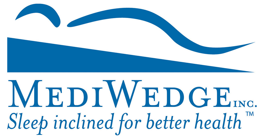 MediWedge Sleep Inclined for Better Health. Bed Wedge Pillow to fight GERD. Logo