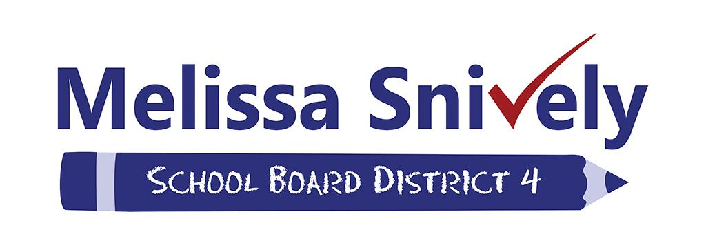 Political logo, school board logo, political candidate logo, politician logo, non partisan logo, vote logo, political campaign logo, Mellisa Snively; Hillsborough County School Board