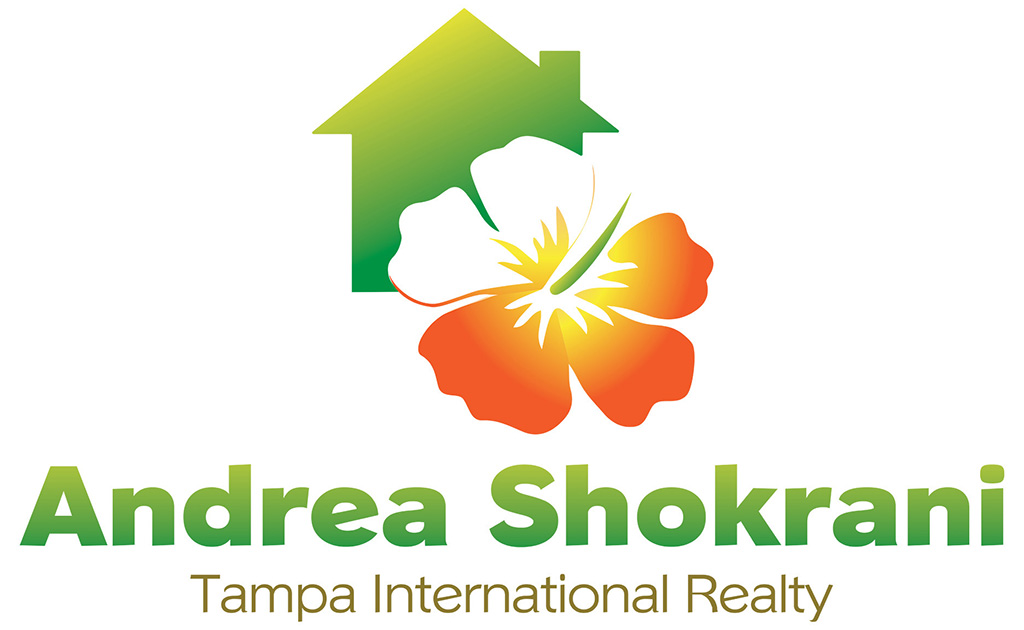 Custom Logo developed for Tampa Realtor featuring house image and hibiscus flower