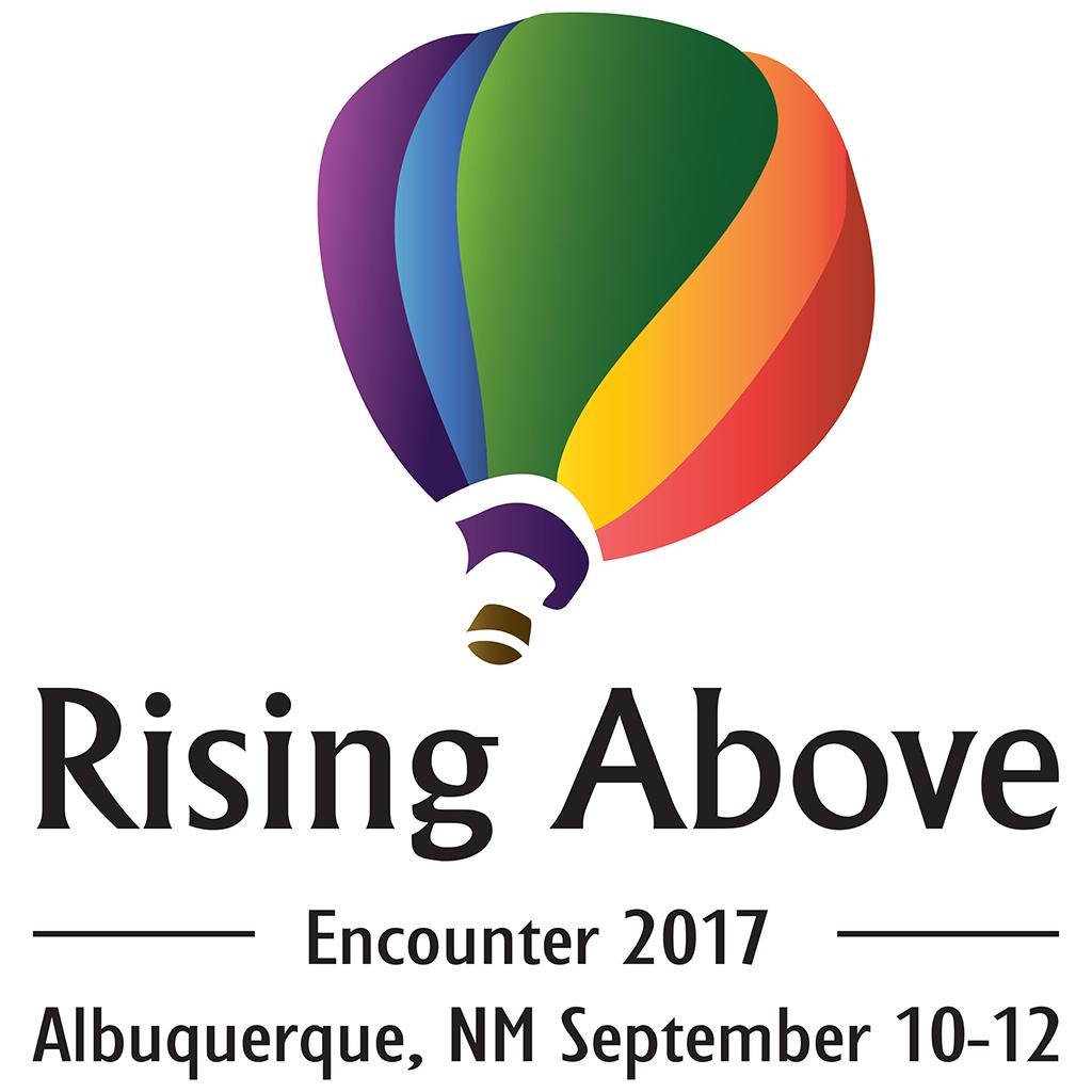 Rising Above Encounter 2017 in Albuquerque New Mexico Event Logo, hot air balloon logo, Encounter 2017, Eclipse User Friendly Organization