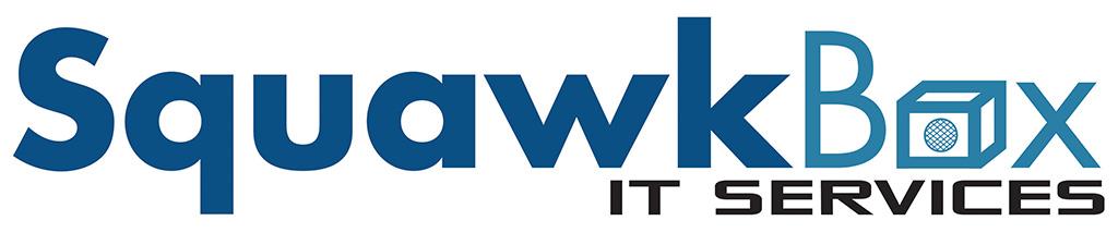 Squawk Box logo, IT logo, information technology logoo, logo designed by Kemp Design Services