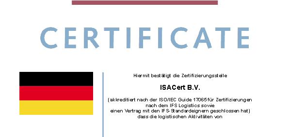 IFS Certificaat 2017