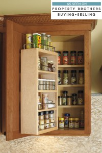 Pull Down Cabinet Shelf - Kemper Cabinetry