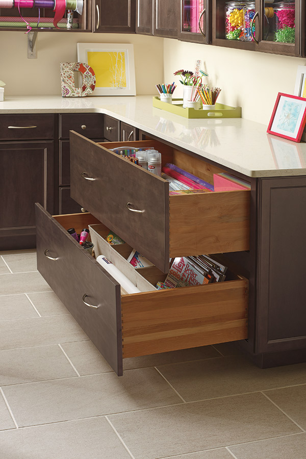 kitchen cabinet with drawers utility cart two drawer base - kemper cabinetry