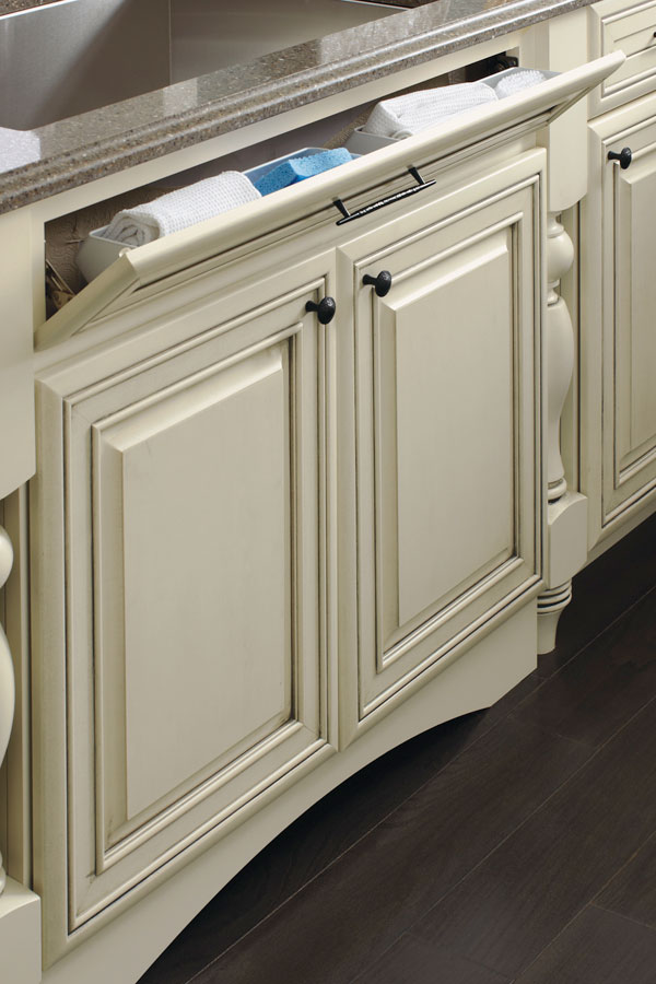 Sink Base with Tiltout on 5Piece Drawer Front  Kemper