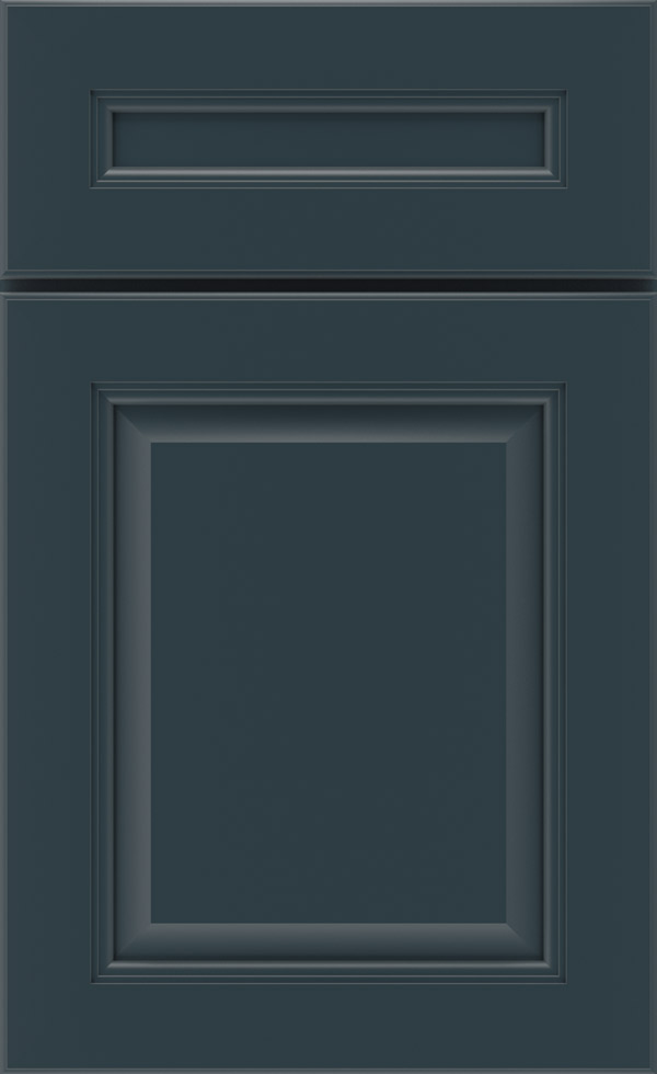Maritime Blue Cabinet Paint on Maple  Kemper Cabinetry