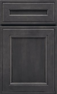 Dark Grey Cabinets  Storm Maple Cabinet Finish  Kemper
