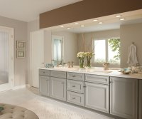 Gray Bathroom Cabinets - Kemper Cabinets