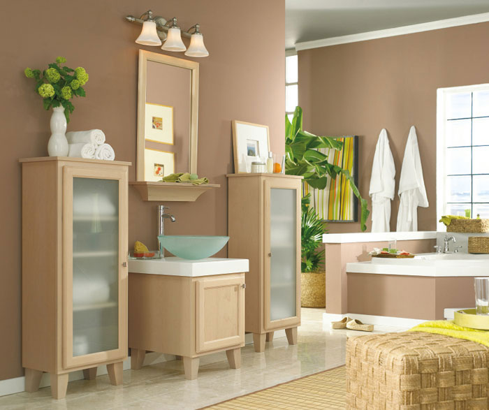 Maple Bathroom Vanity and Cabinets  Kemper Cabinetry