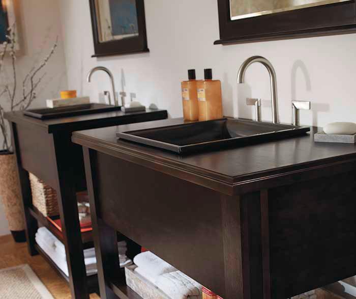 Contemporary Bathroom Vanities  Kemper Cabinetry