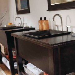 Kitchen Vanities Commercial Sinks Contemporary Bathroom - Kemper Cabinetry