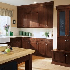 Shaker Kitchen Cabinets Appliances Online Style Kemper Cabinetry In A Dark Cherry Henna Finish