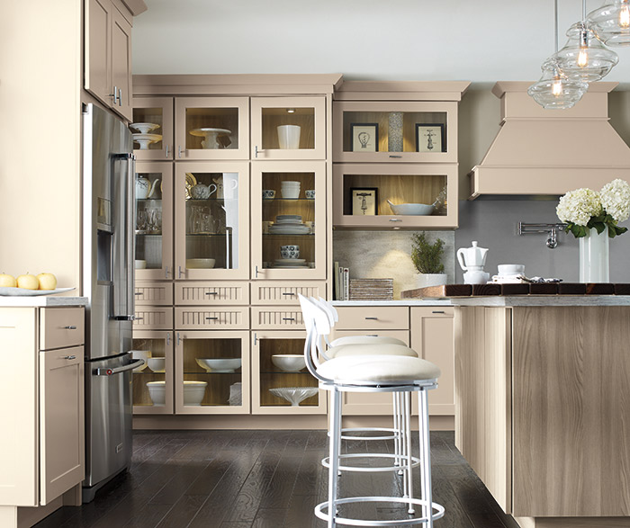 kitchen pantry organizer pewter faucet transitional with beige cabinets - kemper cabinetry